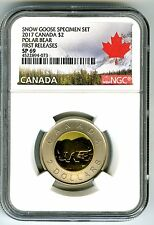 2017 CANADA $2 NGC SP69 FIRST RELEASES FROSTED TWO DOLLAR TOONIE RARE !