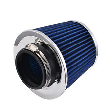 1x 75mm Universal Fit Cold Air Intake Blue Round Cone Filter KN Type Gray