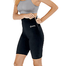 CURVES FOR WOMEN WORKOUT TRIMMING SHORTS SOLID BLACK SIZE 1X (18W-20W)