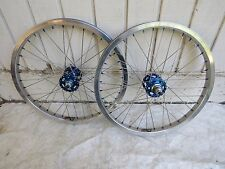 DIAMOND BACK WHEELS BLUE SUZUE HUBS RIMS SPOKES BMX RACE RACING NOS