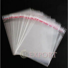 "5""x7"" 200 Pcs Self Adhesive Clear Plastic OPP Bags Seal for Jewelry & Gemstone"