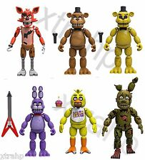 "New Set Of 6 Five Nights At Freddy's 5"" Figure Foxy, Bonnie, Chica, Spring Trap"