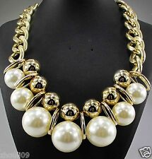 New Design huge Lady Statement crystal multi chunky chain charm  necklace q905