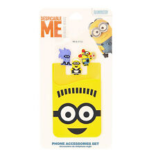 Kids Children Official Despicable Me Minions Stick On Phone Accessory Kit