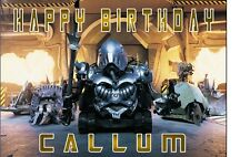 ROBOT WARS SIR KILLALOT A4 TRIFOLD BIRTHDAY CARD PERSONALISED