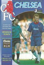 Football Programme - Chelsea v Ipswich Town - Premiership - 1994