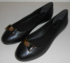 TORY BURCH 'Jolene' Nappa Leather Ballet Flats ~ Black Sz 7 ~ NIB