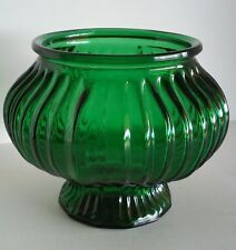 Vintage 1950's E O BRODY CO G 104 Green Flower Bowl Vase