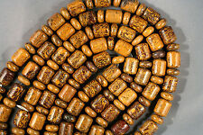 "COQUINA 'JASPER' SOUTHWEST BEADS 7X18MM BARREL RONDELLE 16""  ELEPHANT SKIN COBRA"