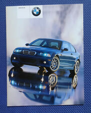 2001 BMW M3 Coupe DELUXE Sales Brochure - MINT Original New Old Stock