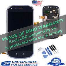 Digitizer For Samsung Galaxy S3 Mini i8190 Blue LCD Touch Screen Replecement USA