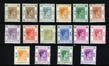 HONG KONG King George VI 1938-1952 The Definitive Issue SG 140 to SG 162 MINT