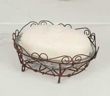 Metal Wire Soap Holder with Glass Dish