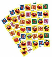 3 Sheets SESAME STREET ELMO Numbers Scrapbook Stickers