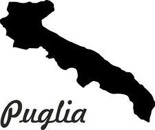 "2x Auto Aufkleber Italien Region "" APULIEN "" 11x9 cm Car Sticker"