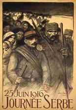A4 Photo Steinlen Theophile 1859 1923 Journee Serbe 1916 Print Poster
