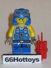 Lego Power Miners 8963 Rex Minifigure New