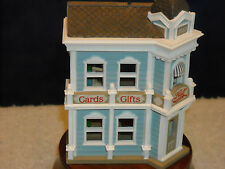 HALLMARK NOSTALGIC HOUSE 1988/HALL BRO'S CARD SHOP/5TH IN SERIES/NRFB/PRICE TAG1