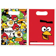 ANGRY BIRDS PARTY / LOOT BAGS NEW SEALED PACK OF 8
