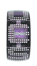 Guess W18534L1 Women's Analog Violet Lucite with Swarovski Crystal Watch