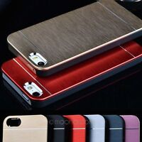 Luxury Hybrid Metal Brushed Hard Case Cover Taschen Schutzhüllen For iPhone 5/5S