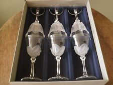"Boxed Set of Six J.G. Durand ""Florence Satine"" Wine Glasses"