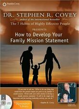 NEW! How to Develop Your Family Mission Statement,  Stephen R. Covey [Audiobook]