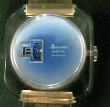 BERCOMA WRISTWATCH  ACRYLIC CASE - SWISS MADE.