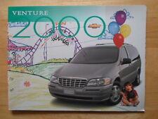 CHEVROLET VENTURE 2000 gamma di grande formato canadese inchiostri BROCHURE CATALOGO