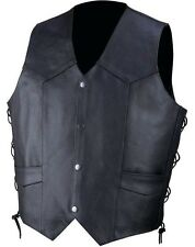 Rocky Mountain Hides Solid Genuine Cowhide Leather Vest XL