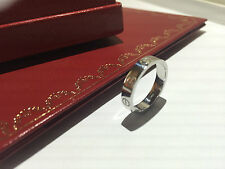 CARTIER MINI LOVE Ring Gr.50 950/000 PLATIN mit original Box u. Zertifikat