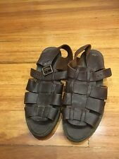Sandler Sandals Size 7.5 Size 38 Brown Leather Good Condition Open Toes