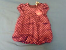 Girls 9-12 Months - Purple with Pink Spots Party Dress - John Lewis
