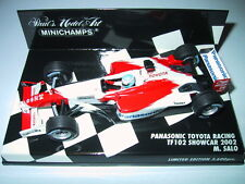 Minichamps F1 1/43 PANASONIC TOYOTA LAUNCH SHOW CAR TF102 2002 MIKA SALO