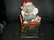 HOLIDAY CREATIONS SANTA NOEL CHRISTMAS SCENE LIGHT PLAYS FAVORITE CAROLS IN BOX
