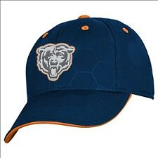 NFL Chicago Bears Boys 8-20 Structured Flex Fit Cap Hat One Size Blue NEW!