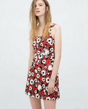ZARA FLORAL SHORT A LINE CROSS BACK DRESS SIZE S