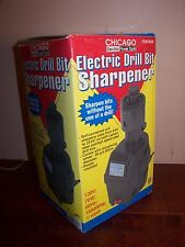 CHICAGO ELECTRIC DRILL BIT SHARPENER - LOOKS NEW IN BOX WITH PAPERS