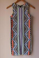 BNWT Top Shop Petite Aztec geometric retro print dress for women size 6 – 8