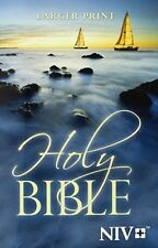 NIV, Holy Bible, Large Print, Paperback, New, Free Shipping