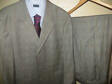 Hugo Boss Glen Plaid Einstein Omega Super 100 Suit Blazer 44 R Pants 36 X 28 EUC