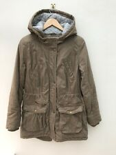 Beige Ladies Warm Padded Parka Coat With Hood. Indigo By M&S. Size 12