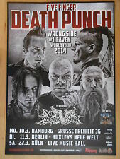 FIVE FINGER DEATH PUNCH 2014 WORLD TOUR - orig.Concert-Konzert-Poster-Plakat NEU