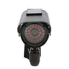 Solar Power Fake Dummy Security CCTV Camera Waterproof IR Light Surveillance AT