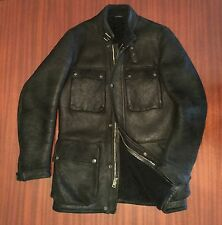 As New Rare Ralph Lauren Made In Italy 100% Sheepskin Leather Jacket Men's S M