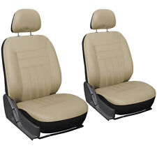 Car Seat Cover Beige Tan 6pc Set Bucket for Auto w/Detachable Head Rest Mesh