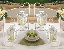 "Quaint Mini White Wedding Candle Lanterns 9"" (Set of 10) Event Supplies 39572"