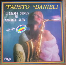 """FAUSTO DANIELI """"12 GRANDS SUCCES EN AMBIANCE SLOW"""" CHEEESECAKE COVER FRENCH LP"""