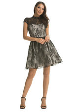 BNWT Chi Chi Darcy black lace high neck skater Dress -SIZE 12 WEDDING GUEST PROM