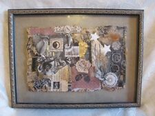 COLLAGE OF ROMANTIC VICTORIAN IMAGES Original Art Shadowbox antique frame 2002
